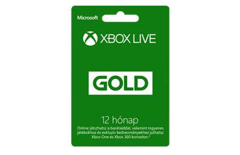 Xbox One Live feltöltő kártyák